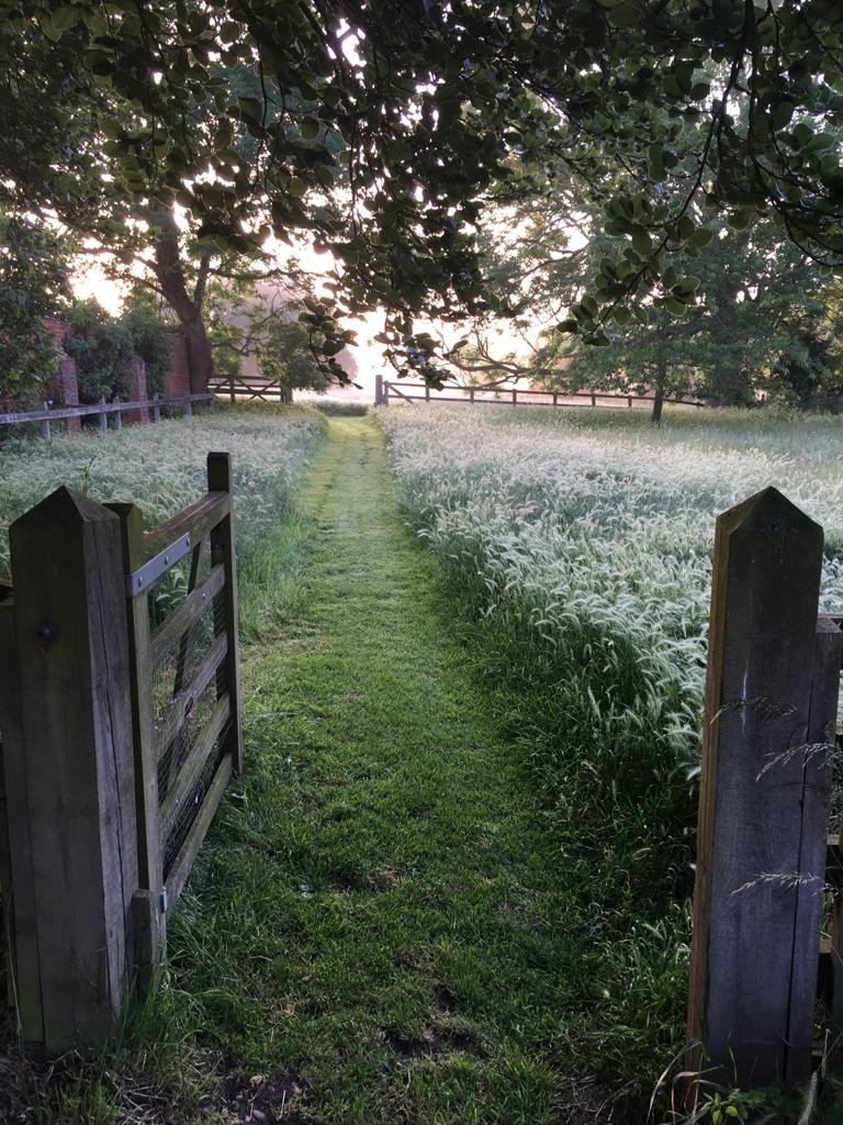 The path from the farmhouse to Shepherd's Hut